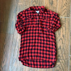 Old Navy Dresses - OLD NAVY Girls Buffalo Check Flannel Dress